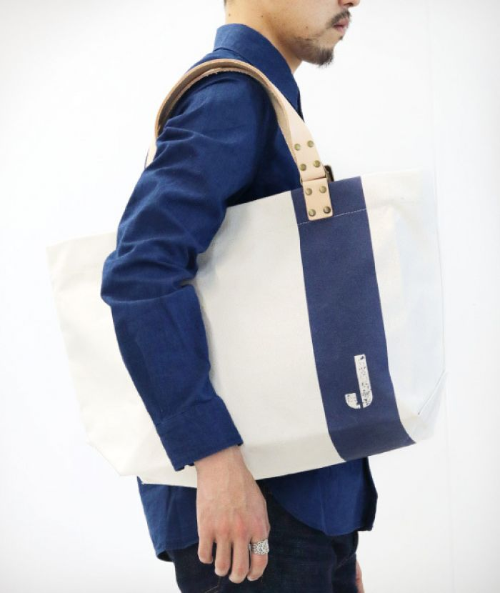J52190R03 Leather Handle Canvas Tote bag No.6 Canvas W50cm × H49cm