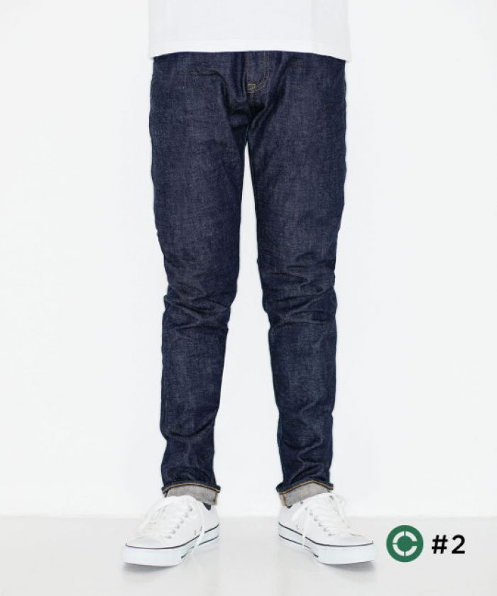 J205 CIRCLE Tapered 12.5oz Stretch Selvedge Jeans